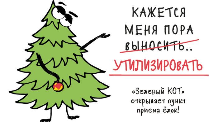 «Зеленый КОТ» открывает пункт приема елок!